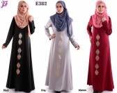 New Sabrina Jubah with Gold Heat Press Patch E382