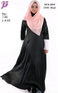 New Satin Jubah Dress with Embroidery C345 for Oct 2014