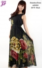 New Sleeveless Floral Chiffon Dress U073 for Aug 2013