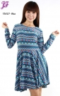New Tribal Peplum Dress T3027 for April 2013