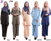 New Wardah Suit Blouse and Pant D388