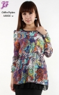 Restock of  Chiffon Graphic Peplum A8806