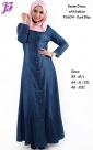 Restock of Denim Jean Jubah Dress F5604 for Oct 2014