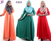 Restock of Jubah Dress with Front Zipped C347