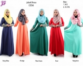Restock of Jubah Dress with Lace Embroidery - E336