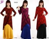 Restock of Lace Print Asymmetric Dress - T3028