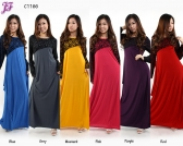 Restock of  Long Lycra Maxi Dress - C1166