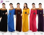 Restock of  Long Lycra Maxi Dress - N1162
