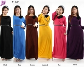 Restock of  Long Lycra Maxi Dress - N1170
