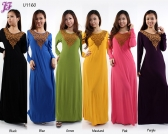 Restock of Long Lycra Maxi Dress - U1160