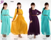 Restock of Long sleeve Chiffon Dress - F868