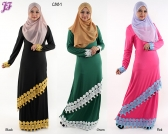 Restock of Lycra Embroidered Kurung Dress - C881