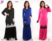 Restock of Lycra Kurung Dress with Chiffon - Y874