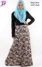 Restock of  Lycra Paisley Long Dress S760
