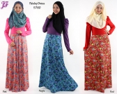 Restock of  Lycra Paisley Long Dress  - S760