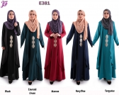 Restock of Merissa Jubah with Gold Heat Press Patch E381 batch III