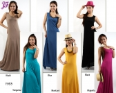 Restock of Sleeveless Cotton Long Dress -  Y933
