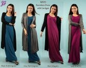 Restock of Sleeveless Dress with Long Cardigan M889