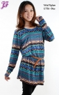 Restock of Tribal Peplum Blouse E736